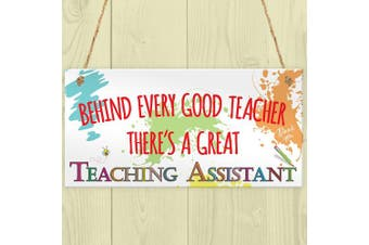 Red Ocean Behind Teacher Great Teaching Assistant Hanging Plaque End Of Year School Gift
