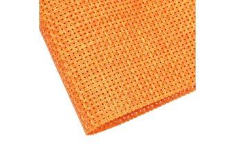 (6pc, Orange) - Homcomoda Table Mats Washable PVC Dining Place Mats Non-slip Heat-resistant Vinyl Placemats Set of 6 (Orange)