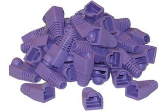 (1, Purple) - ACL RJ45 Strain Relief Boots for Cat5, Cat5e & Cat6 cable, [50 Pieces/Pack], Purple, 1 Pack
