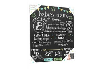 Tiny Ideas Baby's Monthly Chalkboard, Neutral, Black