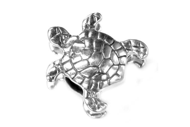 Sterling Silver Sea Turtle Nautical Animal Bead for European Charm Bracelets