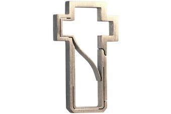 (Hand Brushed) - Bico Keyklipz Cross Titanium Keyring/Carabiner: Stone Finish (KR30A)