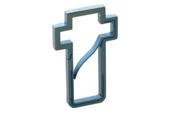 (Blue) - Bico Keyklipz Cross Titanium Keyring/Carabiner: Stone Finish (KR30A)