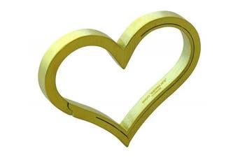 (Gold) - Bico Keyklipz Heart Titanium Keyring/Carabiner: Stone Finish (KR35B)