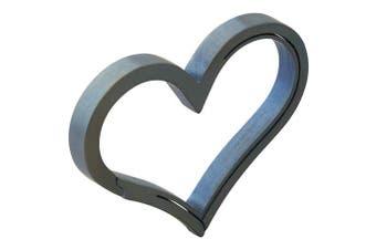 (Blue) - Bico Keyklipz Heart Titanium Keyring/Carabiner: Stone Finish (KR35B)