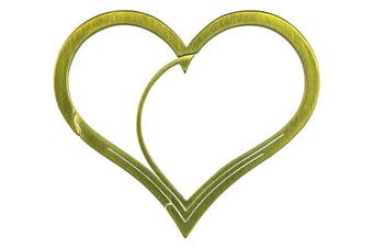 (Gold) - Bico Keyklipz Heart Titanium Keyring/Carabiner: Stone Finish (KR35A)