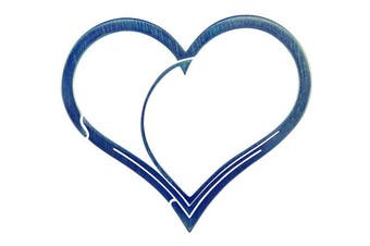 (Blue) - Bico Keyklipz Heart Titanium Keyring/Carabiner: Stone Finish (KR35A)