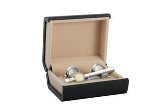 (Style 2) - BodyJ4You 3PC Cufflinks Tie Clip Bar Button Shirt Modern Classic Design Business Gift Set