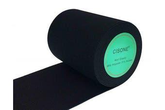 (7.6cm  Wide, black) - Knit Elastic Bands, 7.6cm Wide Black Heavy Stretch High Elasticity Knit Elastic Band 3 Yards