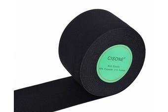 (5.1cm  Wide, black) - Knit Elastic Bands, 5.1cm Wide Black Heavy Stretch High Elasticity Knit Elastic Band 5 Yards
