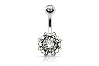 (Vintage Style 3) - BodyJ4You Vintage Shield Belly Bar Button Ring