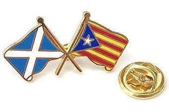Scotland & Catalonia Independance Enamel Friendship Lapel Pin Badge