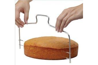 Cake Cutter Slicer Leveller, Premium Food Grade Stainless Steel Double Wires Cake Cutter Slicer Leveller Adjustable, 35cm x 16cm , Dishwasher Safe by Aixin