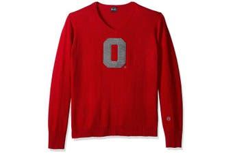 (Ohio State Buckeyes, X-Large, Scarlet) - NCAA Men's V-Neck Sweater