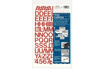(1.9cm  High, Red) - Chartpak Self-Adhesive Vinyl Capital Letters and Numbers, 1.9cm High, Red, 94 per Pack (01022)
