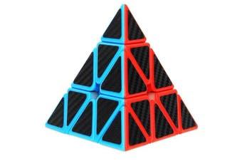 Aiduy Pyraminx Pyramid Speed Cube, Triangle Carbon Fibre Sticker Twisty...