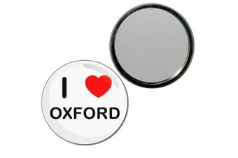 (77mm) - I Love Oxford - 77mm Round Compact Mirror