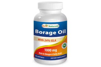 Borage Oil 1000 Mg -- Yielding 240 Mg of Gla, 380 Mg of La, 90 Softgels By Best Naturals by Best Naturals
