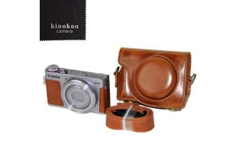 (brown) - kinokoo Protective Case Cover PU Leather Camera Case Tailored for Canon G9X G9X Mark2 (brown)