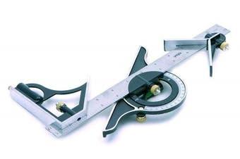 300mm Mini Combination Square - Set Rolson 50879 12inch Protractor Adjustable