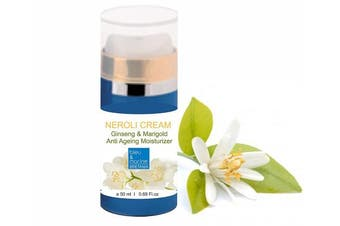 Neroli Anti Ageing Cream All Skin Types day Moisturiser 50 ml airless bleu & marine Bretania made in France