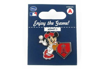 MLB Los Angeles Angels Disney Pin - Mickey Leaning on Home Base