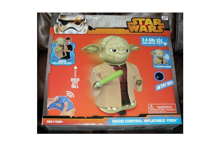 (Yoda) - Bladez Toyz Remote Control Inflatable Yoda Pump and Play with 11 New Original Sounds (Multicolor)