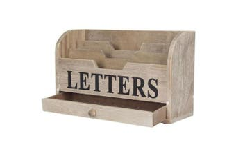 Natural Wooden Letters Tidy By Gisela Graham