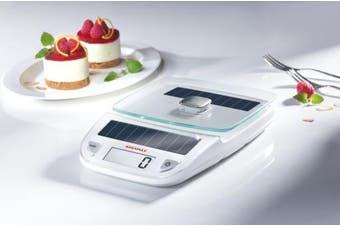 (White) - Soehnle Easy Solar Kitchen Weighing Scale - White