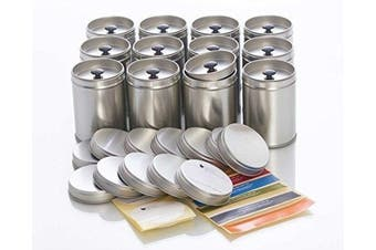 12 Large Spice Jars With Aroma Lid
