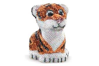 (Tiger) - Sequin Art 3D Tiger Sparkling Arts & Crafts Picture Kit