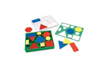 (1) - Learning Resources Attribute Blocks in Plastic Storage Tray (Desk Set)