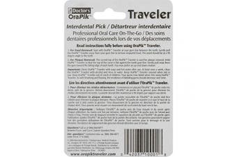 (1) - The Doctor's Orapik Traveller Interdental Pick | Assorted Colours | 2-Count per Pack | 1-Pack