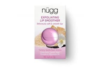 (Natural Vanilla Bean) - nügg SUGAR LIP SCRUB and LIP EXFOLIATOR for Smooth and Soft Lips; ALL NATURAL, VEGAN and CRUELTY-FREE; 5ml