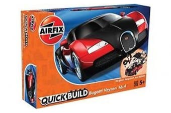 J6020 Airfix - Quick Build Bugatti Veyron Black & Red