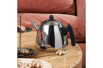 Bredemeijer 1.2 L Stainless Steel Classic Teapot, Black