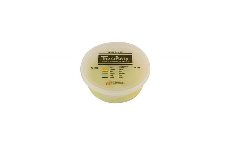 (180ml, Yellow: X-soft) - CanDo TheraPutty Standard Exercise Putty, Yellow: X-Soft, 180ml