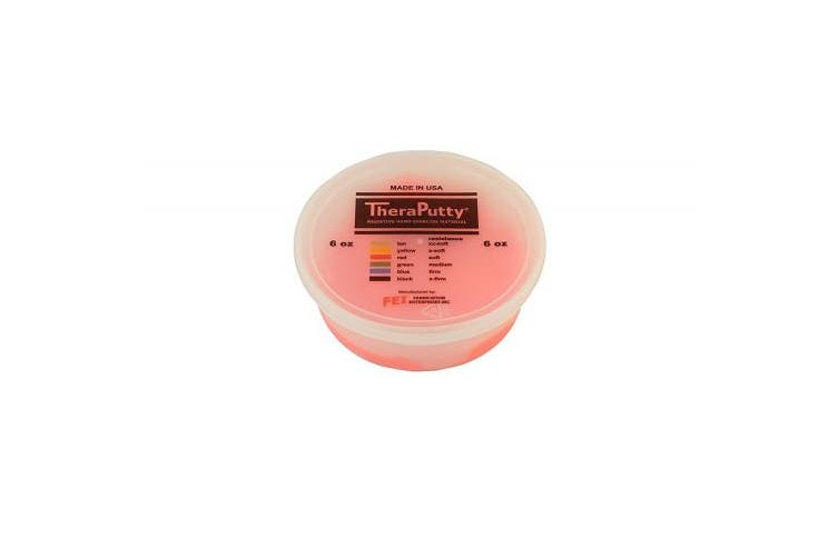 (180ml, Red: Soft) - CanDo TheraPutty Standard Exercise Putty, Red: Soft, 180ml
