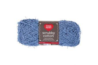 (Denim) - Coats & Clark E854.7683 Red Heart Scrubby Cotton, Denim