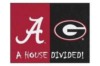 Alabama - Georgia House Divided Rug 90cm x 110cm