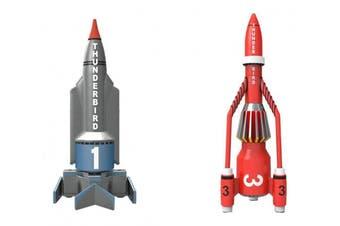 Hornby Corgi Thunderbirds TB1 and TB3 Die Cast Model (Grey/Red) by Hornby