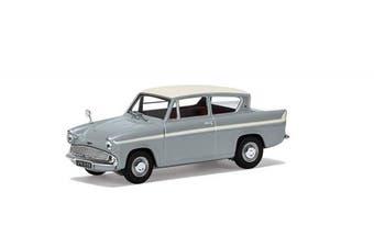 Corgi Vanguards Ford Anglia 1200 Super, Platinum Grey And Ermine White - Va00131