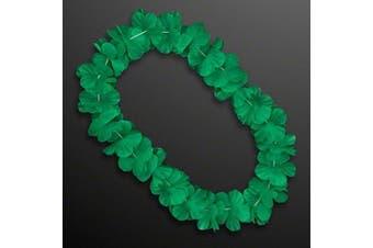Hawaiian Flower Lei Necklace Green by Blinkee