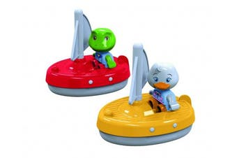 Aquaplay 2 Sailboats + 2 Puppets. Shipping Included