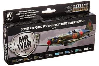 "Acrylicos Vallejo ""soviet Air Force Vvs 1941-43 Great Patriotic War"" Model Air"