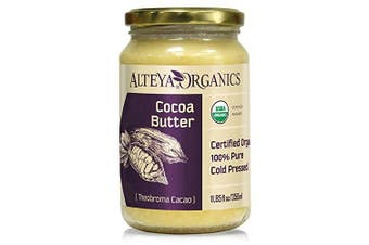 Alteya Organic Cocoa Butter 350ml - 100% USDA Certified Organic Pure Natural Refined Cocoa Butter (Theobroma Cacao)