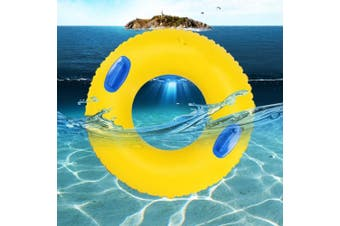 (4.L) - LUCKSTAR Swim Ring - PVC Thickened Floating Swimming Ring Inflatable Ring Swim Tube Summer Fun Swim Trainer for Kids & Adults (L)