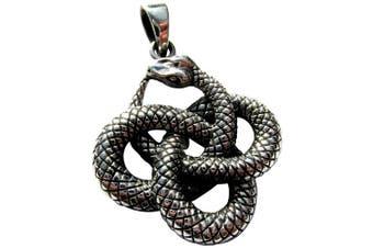 Sterling Silver 925 Ouroborus Serpent Pendant ( 8.2 Grammes )