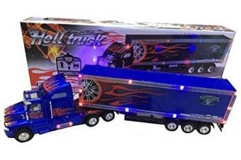 (Black/Blue) - Big-Daddy 2017 2.0 Super Cool Series Extra Large Super Duty Tractor Trailer With Light & Music (Colour may vary)