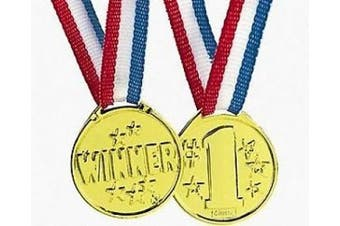 12 No.1 Winner Award Medals For Party Bags & Game Prizes | Kids Party Games